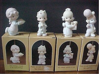 Precious Moments ORNAMENTS  4 IN GROUP   Mint with boxes