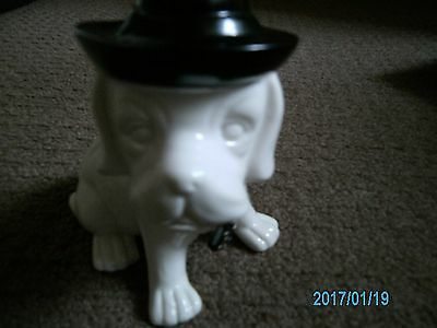 Ceramic Dog Ornament With Hat & Tie So Adorable Bnew