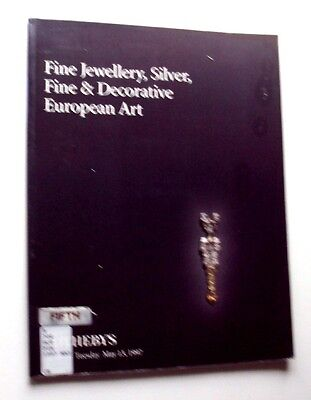 1997 SOTHEBY AUCTION Fine Jewellery Silver Decorative European Art with PRICES