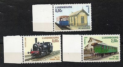 Luxembourg : 2005 Trains Set Unmounted Mint