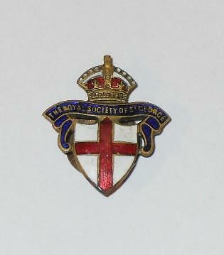 The Royal Society Of St George Vintage Enamel Lapel Badge (England Society)