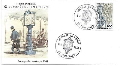 ENVELOPPE 1er JOUR - FDC - N° 2004 - JOURNEE du TIMBRE - TOURCOING