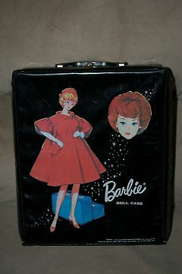 Vintage Barbie - 1965 Black Barbie Case with Bubblecut in Red Flare Graphic