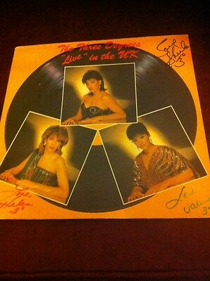 "The Three Degrees. ""Live"" In The Uk. Fully Autographed Cover Ex Ex"