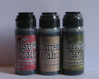 Ranger - Tim Holtz - Distress Stains - Lot of 3 - New.
