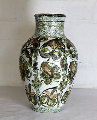 A Large Vintage Denby Stoneware Vase Abstract Retro 1970s Interiors