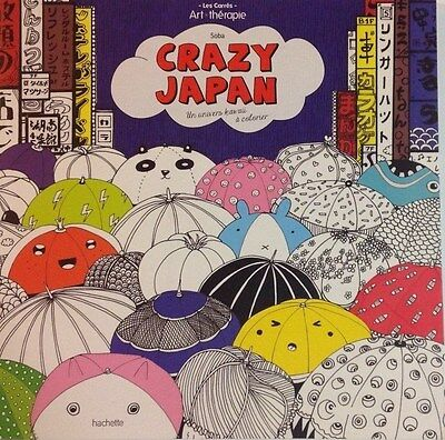 ART THERAPIE CRAZY JAPAN univers Kawai COLORIAGES ANTI-STRESS HACHETTE carré