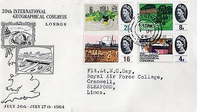 Gb 1964 Qeii Excellent Illustrated First Day Cover  Geographical Congress (Ord)