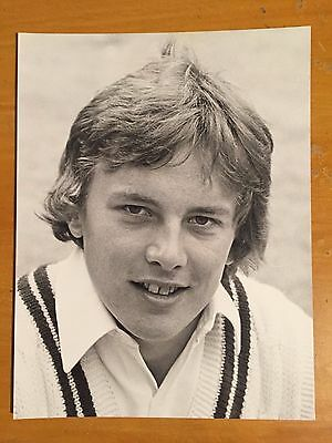 1980s ian Gould Middlesex player a Bill Smith Press Photograph vgc