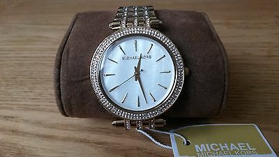 New MICHAEL KORS Women's Gold Watch MK3219