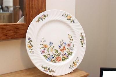 An Aynsley Cottage Garden Pattern Gilded 10.5 Inch Fluted Plate