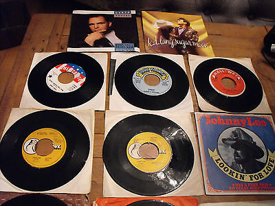 JOB LOT  113 COUNTRY MUSIC 7 inch SINGLES