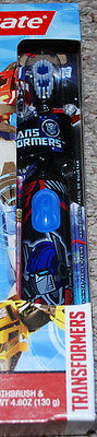 Transformers Optimus Prime Spinbrush Colgate Battery Powered Toothbrush Boys New