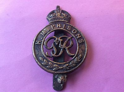 HM Prison Badge Pin Intact Condition As Scans