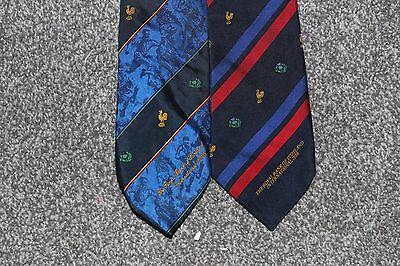 1996 & 1998 Scotland vs France Rugby Union Ties (x2) Made by Maddocks & Dick LTD