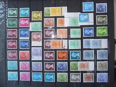 Specialised Machin definitive collection of 79 MNH stamps. All different.