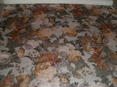 3.7 metres floral printed velvet upholstery fabric