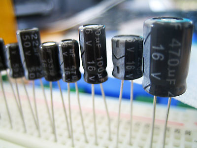 Capacitors Radial Electrolytic |  Choose Value or Mix Pack - UK Seller