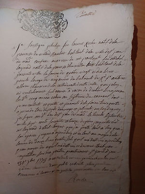 1773 antic French document