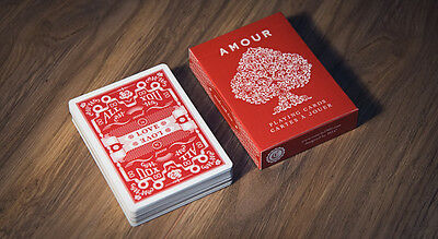 Amour Ultra Rare Limited Edition Red Playing Cards - Love Poker Magic Deck