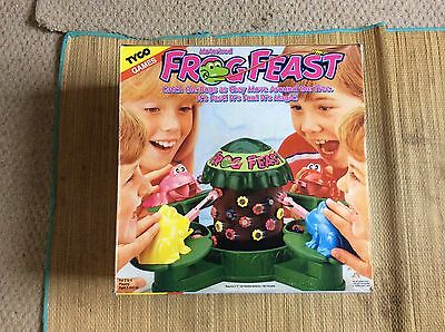 Tyco Games Frog Feast 1990. Good Condition, Complete and Vintage.
