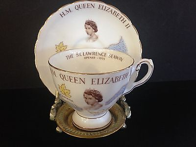 Tuscan Porcelain H.M. Queen Elizabeth II Commemorative Cup and Saucer