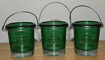 Yankee Candle Green Candle Holder X3