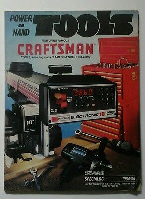 1984-85 Sears Craftsman Power and Hand Tool Catalog Vintage
