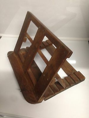 Antique wooden folding book rest / stand