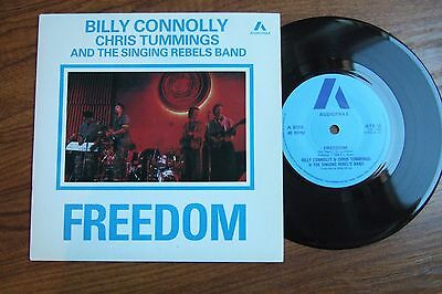 """Billy Connolly/chris Tummings -Freedom - P/s 7"""" Audiotrax Atx 10/1985 Nm To Mint"""