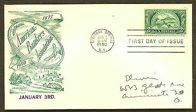 US FDC 987-24 American Bankers FDC,   McGawley Cachet (Green). EC.*