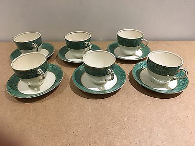6 x Demitasse Coffee Cups and Saucers J & G Meakin Florida Sol