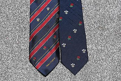England vs Wales Rugby Union Ties x 2