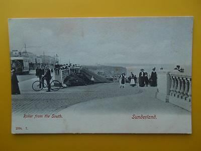 Roker From The South SUNDERLAND County Durham c1910 Tram Man & Bicycle