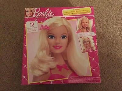 Brand New In Box Barbie Styling Head With 13 Pieces