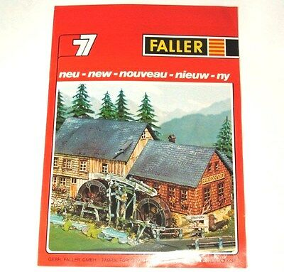 FALLER - new - GERMAN CATALOGUE thin not dated