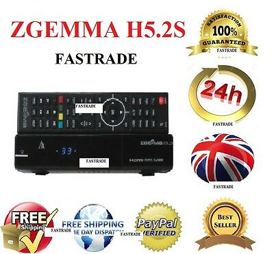 Original Zgemma H5.2S Dual Core Twin Satellite Receiver Dvb-S2 Tuner Free To Air
