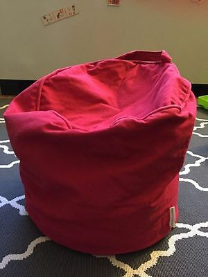 POTTERY BARN KIDS Small Red BEANBAG CHAIR- for Toddlers or Newborn Photography