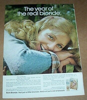 1973 ad page - Clairol Born Blonde hair color CUTE GIRL vintage PRINT ADVERT