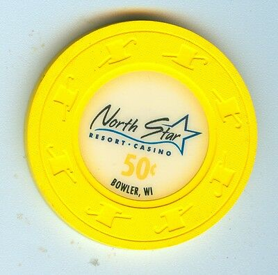Super Nice 2009 North Star Mohican Casino Bowler Wisconsin $.50 Chip
