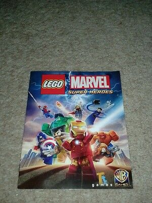 Lego Marvel Super Heroes PS4 'Manual' Only!!