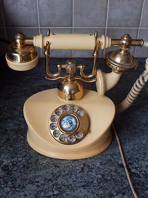 VINTAGE RETRO 1970s DUCHESS ROTARY DIAL TELEPHONE made in JAPAN HOME PHONE