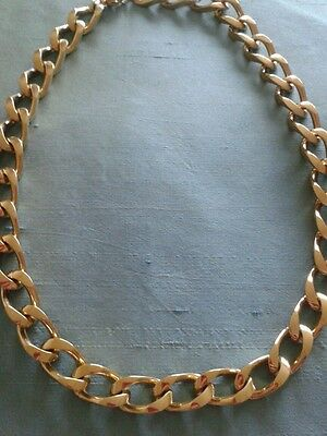 Vintage Monet Designer Heavy Gold Plated Chain Necklace - Exc. Condition