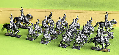 wargames 25mm napoleonic minifigs french guards band and mounted colonels