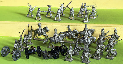 25mm minifigs american war of independence mixed lot white metal figures