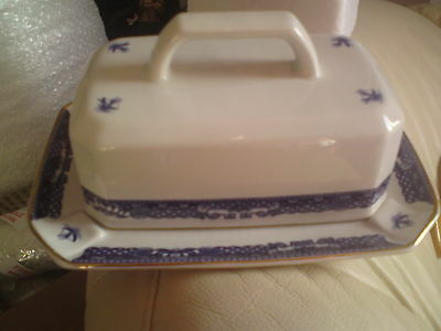 Beautiful Wade Ringtons Willow Pattern Design Butter Dish, Vgc, Free-Mailing..