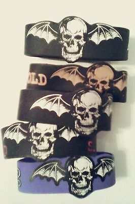 Avenged Sevenfold rubber bracelet - large bat skull