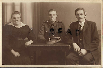 WW1 soldier Cheshire Regiment with parents Oldham photographer
