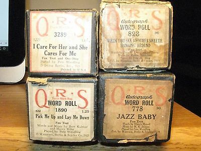 Four Qrs Rolls Played By Pete Wendling Original Old Piano Rolls