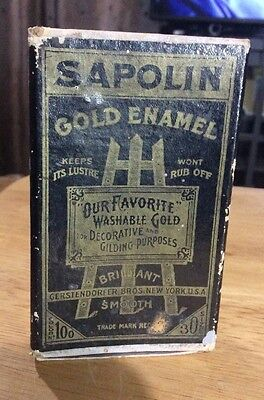 Vintage Sapolin Silver Enamel paint box BOX ONLY advertising collectible